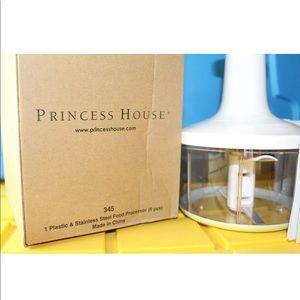Princess House Kitchen - 345 Princess House 6pc Plastic & SS Food Processor